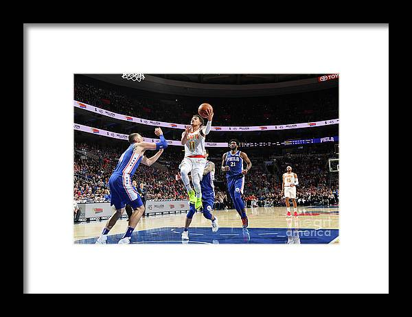 Nba Pro Basketball Framed Print featuring the photograph Atlanta Hawks V Philadelphia 76ers by Jesse D. Garrabrant