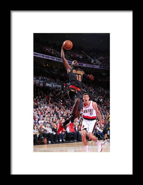 Tim Hardaway Jr. Framed Print featuring the photograph Atlanta Hawks V Portland Trail Blazers by Sam Forencich