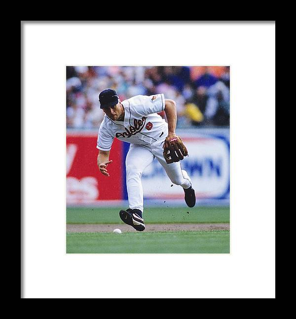 American League Baseball Framed Print featuring the photograph Baltimore Orioles by Ronald C. Modra/sports Imagery