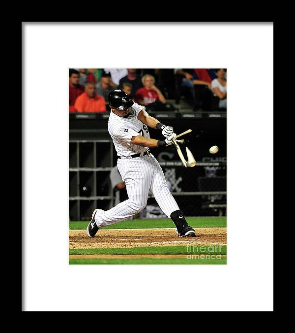 American League Baseball Framed Print featuring the photograph Baltimore Orioles V Chicago White Sox by David Banks