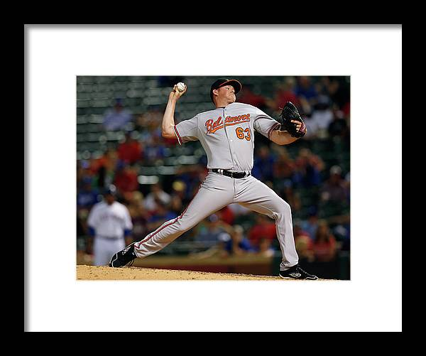 Ninth Inning Framed Print featuring the photograph Baltimore Orioles V Texas Rangers by Tom Pennington