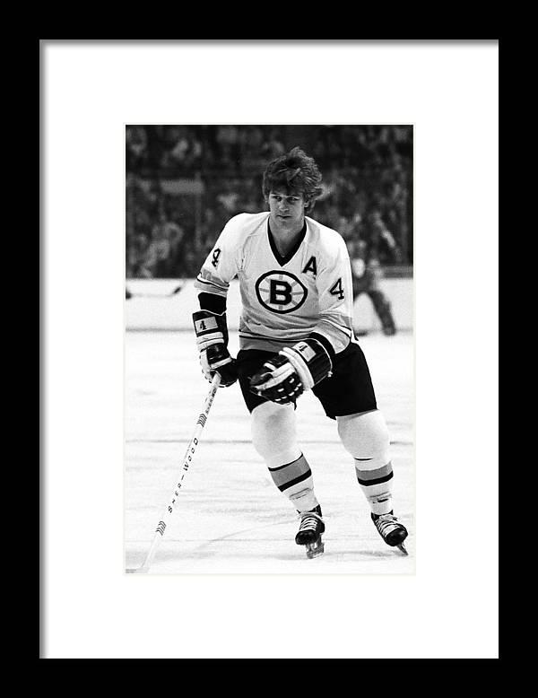 National Hockey League Framed Print featuring the photograph Boston Bruins by Steve Babineau
