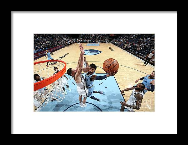 Nba Pro Basketball Framed Print featuring the photograph Brooklyn Nets V Memphis Grizzlies by Joe Murphy