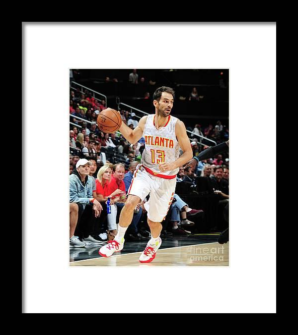 Atlanta Framed Print featuring the photograph Charlotte Hornets V Atlanta Hawks by Scott Cunningham