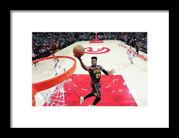 Atlanta Framed Print featuring the photograph Chicago Bulls V Atlanta Hawks by Scott Cunningham