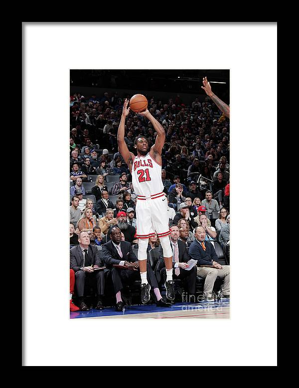Nba Pro Basketball Framed Print featuring the photograph Chicago Bulls V Sacramento Kings by Rocky Widner
