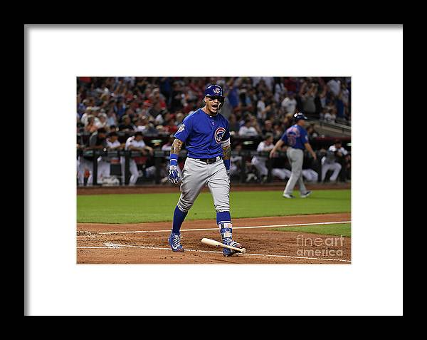 People Framed Print featuring the photograph Chicago Cubs V Arizona Diamondbacks by Norm Hall