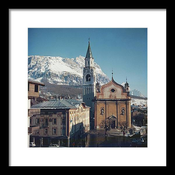 European Alps Framed Print featuring the photograph Cortina Dampezzo by Slim Aarons