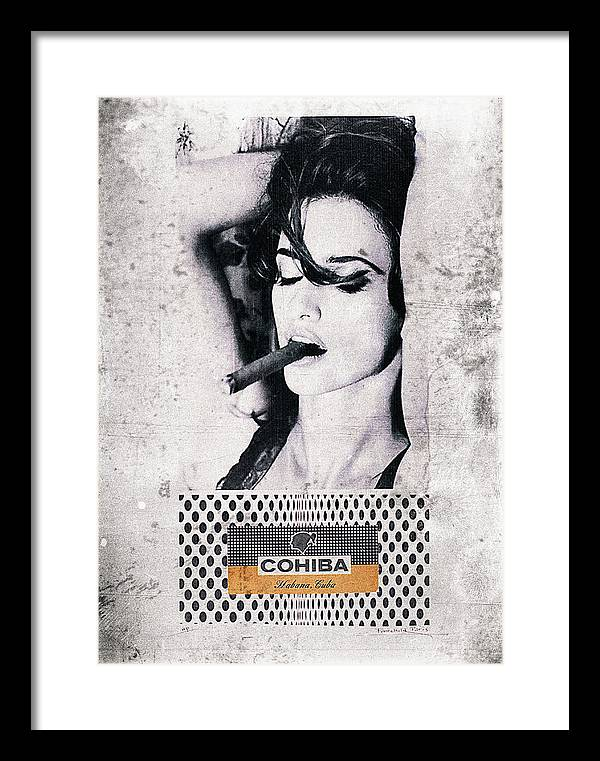 Cuban Cigar and Sexy lady by Benjamin Dupont