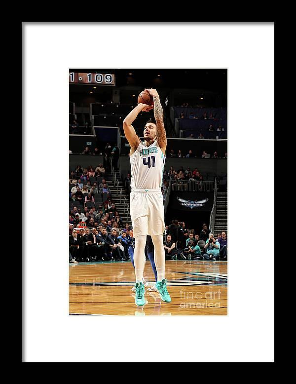 Guillermo Hernangómez Geuer Framed Print featuring the photograph Dallas Mavericks V Charlotte Hornets by Brock Williams-smith