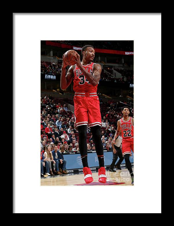 Nba Pro Basketball Framed Print featuring the photograph Denver Nuggets V Chicago Bulls by Gary Dineen