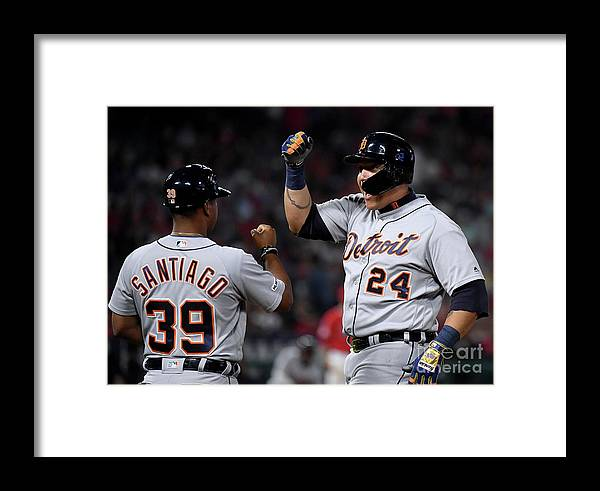 People Framed Print featuring the photograph Detroit Tigers V Los Angeles Angels Of 3 by Harry How