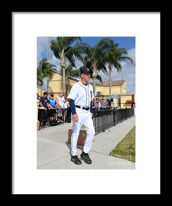 People Framed Print featuring the photograph Detroit Tigers Workout 3 by Mark Cunningham