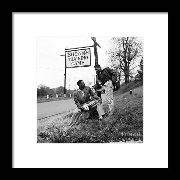 Fighting Framed Print featuring the photograph Floyd Patterson by The Stanley Weston Archive