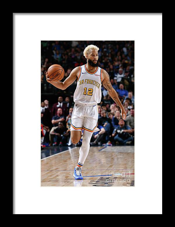 Nba Pro Basketball Framed Print featuring the photograph Golden State Warriors V Dallas Mavericks by Glenn James