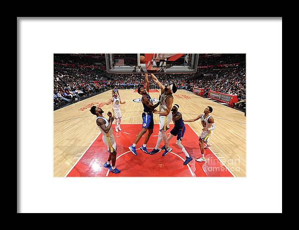 Nba Pro Basketball Framed Print featuring the photograph Golden State Warriors V La Clippers by Andrew D. Bernstein