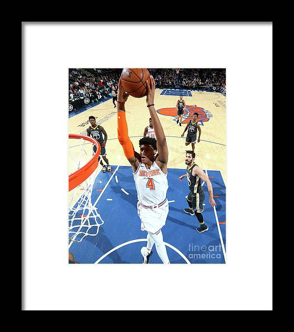 Nba Pro Basketball Framed Print featuring the photograph Golden State Warriors V New York Knicks by Nathaniel S. Butler