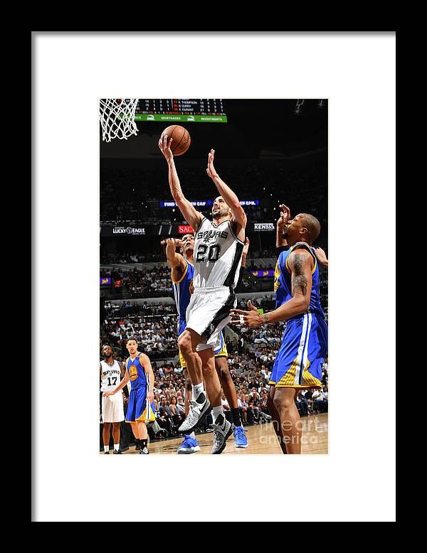 Playoffs Framed Print featuring the photograph Golden State Warriors V San Antonio by Jesse D. Garrabrant