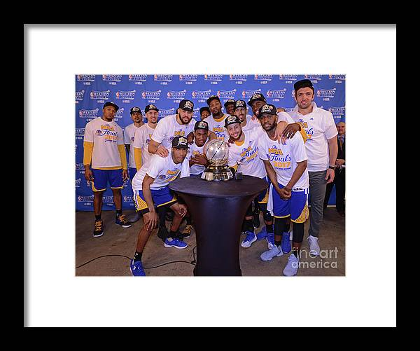 Playoffs Framed Print featuring the photograph Golden State Warriors V San Antonio by Noah Graham