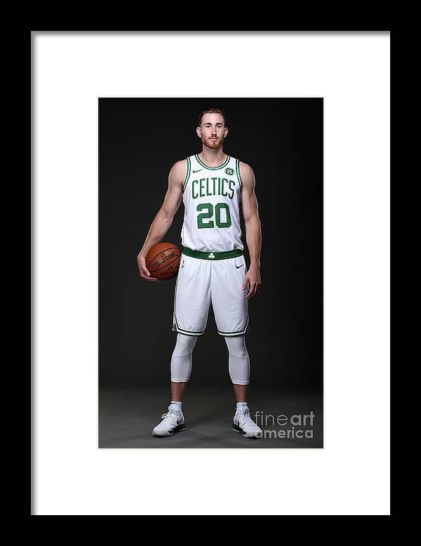 Nba Pro Basketball Framed Print featuring the photograph Gordon Hayward Boston Celtics Portraits by Brian Babineau