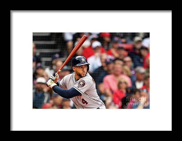 People Framed Print featuring the photograph Houston Astros V Boston Red Sox 3 by Billie Weiss/boston Red Sox