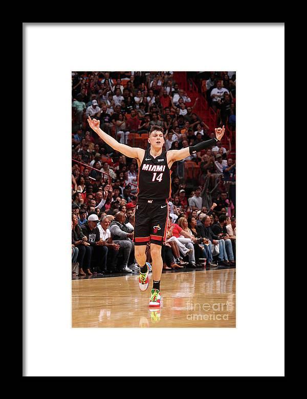 Tyler Herro Framed Print featuring the photograph Houston Rockets V Miami Heat by Issac Baldizon