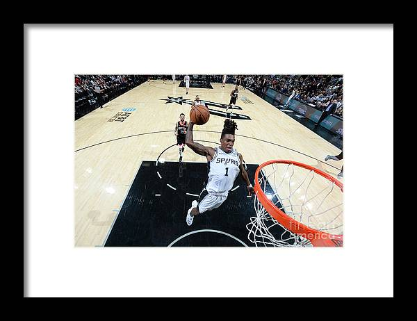 Nba Pro Basketball Framed Print featuring the photograph Houston Rockets V San Antonio Spurs by Logan Riely