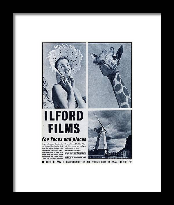 People Framed Print featuring the photograph Ilford Films by Picture Post