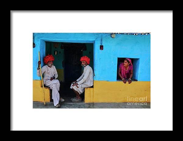 Walking Cane Framed Print featuring the photograph India, Rajasthan, Rabari Village by Tuul & Bruno Morandi