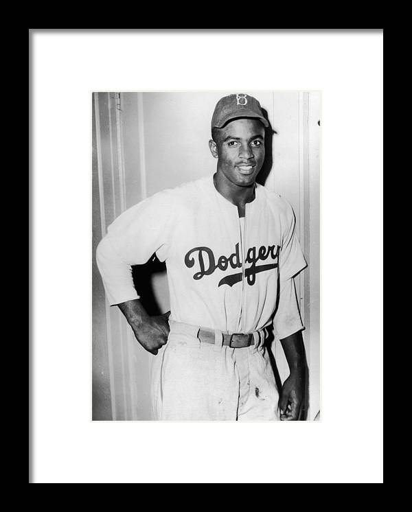 People Framed Print featuring the photograph Jackie Robinson 3 by Hulton Archive