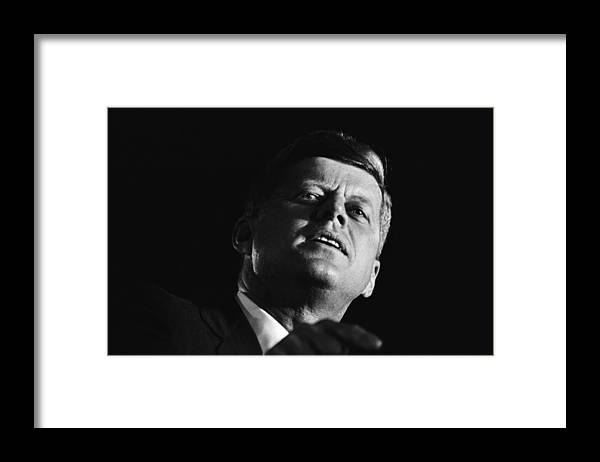 Event Framed Print featuring the photograph John F. Kennedy Campaign Event by Michael Ochs Archives