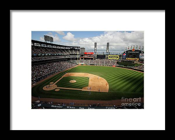 Shadow Framed Print featuring the photograph Kansas City Royals V Chicago White Sox by Jonathan Daniel