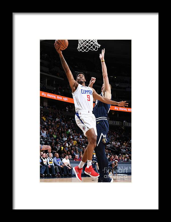 Nba Pro Basketball Framed Print featuring the photograph La Clippers V Denver Nuggets by Garrett Ellwood