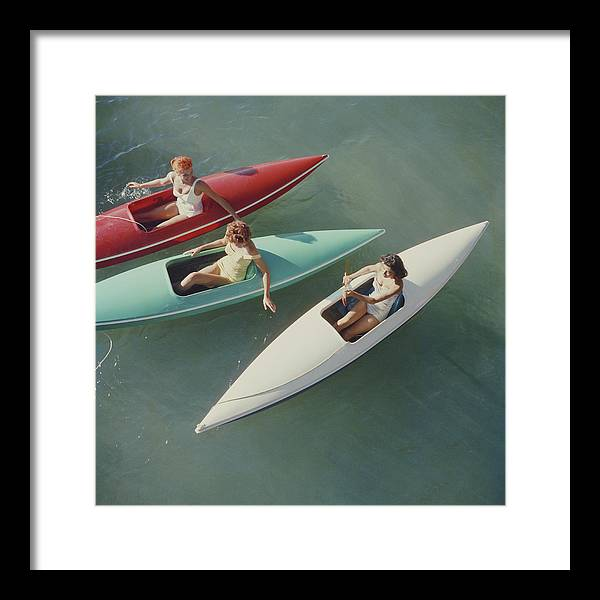 People Framed Print featuring the photograph Lake Tahoe Trip by Slim Aarons