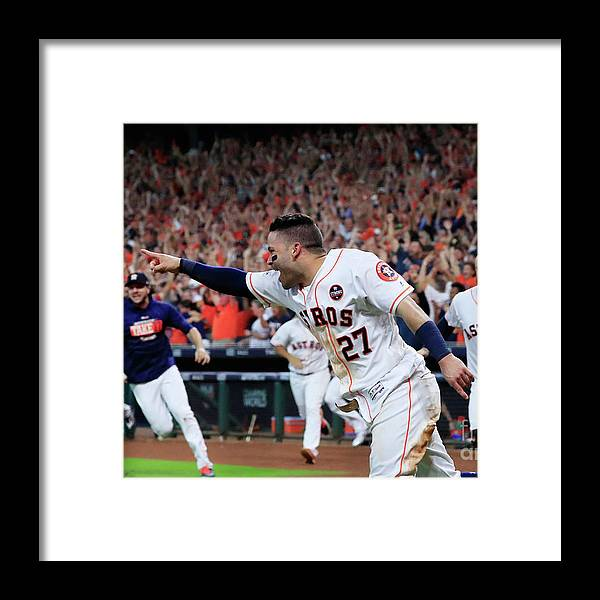 Game Two Framed Print featuring the photograph League Championship Series - New York by Ronald Martinez