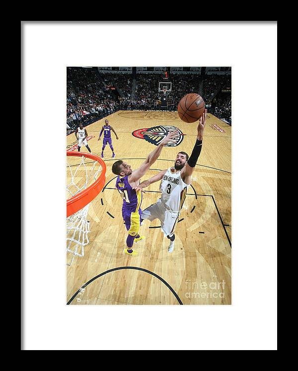 Smoothie King Center Framed Print featuring the photograph Los Angeles Lakers V New Orleans by Layne Murdoch