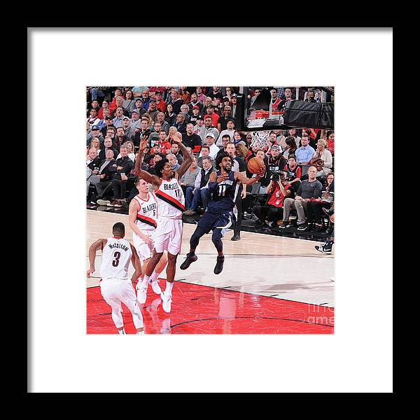 Nba Pro Basketball Framed Print featuring the photograph Memphis Grizzlies V Portland Trail by Sam Forencich