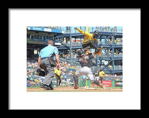 Event Framed Print featuring the photograph Miami Marlins V Pittsburgh Pirates 3 by Justin Berl