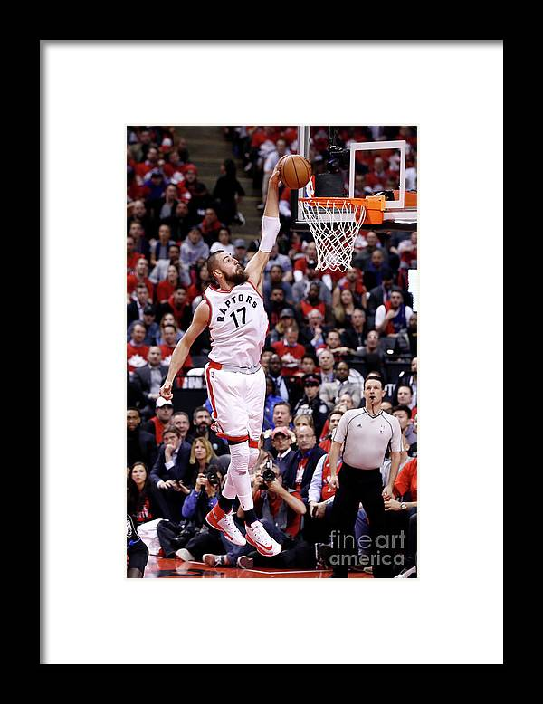 Playoffs Framed Print featuring the photograph Milwaukee Bucks V Toronto Raptors - by Mark Blinch