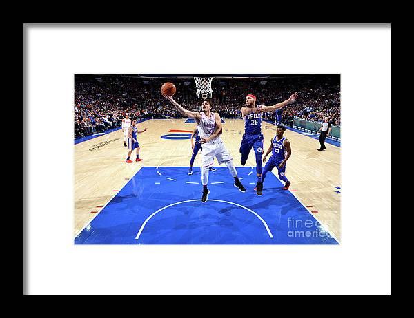 Nba Pro Basketball Framed Print featuring the photograph Minnesota Timberwolves V Philadelphia by Jesse D. Garrabrant