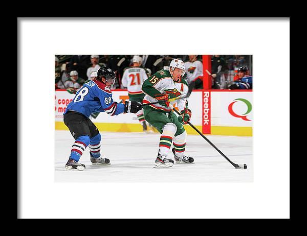 National Hockey League Framed Print featuring the photograph Minnesota Wild V Colorado Avalanche by Doug Pensinger