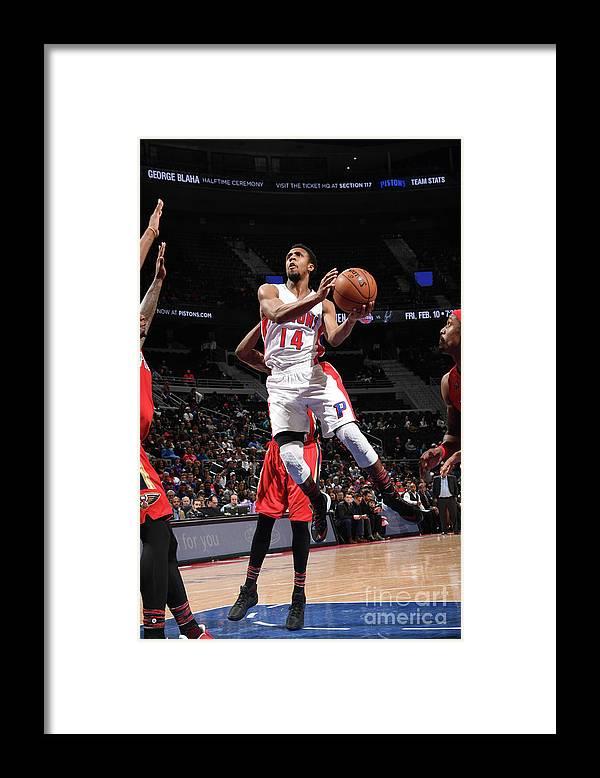 Nba Pro Basketball Framed Print featuring the photograph New Orleans Pelicans V Detroit Pistons by Chris Schwegler