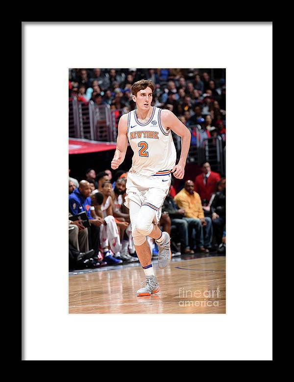Nba Pro Basketball Framed Print featuring the photograph New York Knicks V La Clippers by Andrew D. Bernstein
