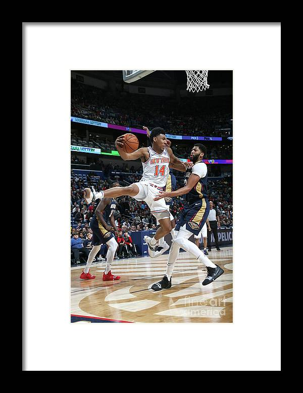 Smoothie King Center Framed Print featuring the photograph New York Knicks V New Orleans Pelicans by Layne Murdoch Jr.