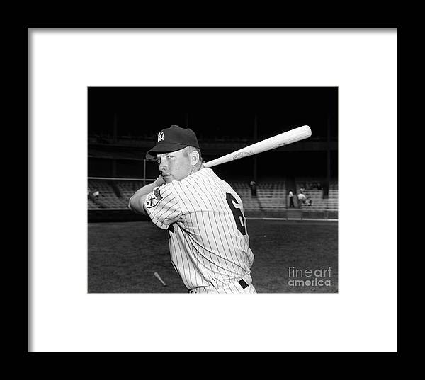 American League Baseball Framed Print featuring the photograph New York Yankees 3 by Kidwiler Collection