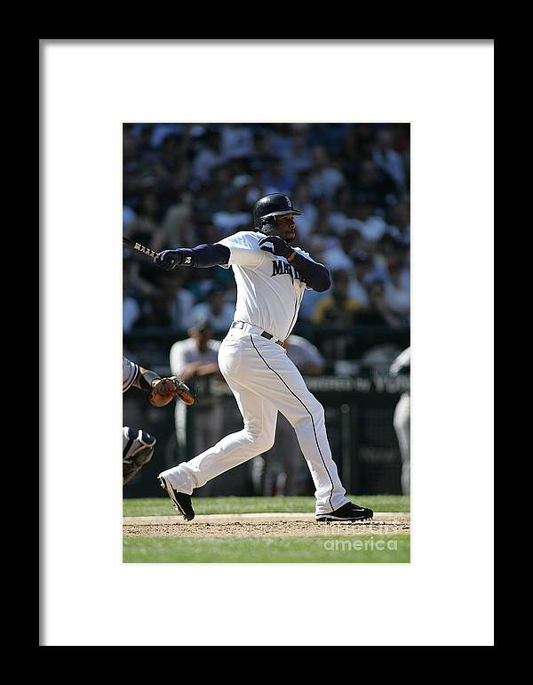 People Framed Print featuring the photograph New York Yankees V Seattle Mariners 3 by Rob Leiter
