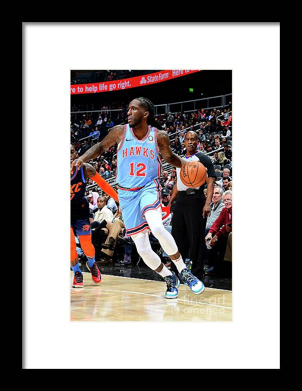 Atlanta Framed Print featuring the photograph Oklahoma City Thunder V Atlanta Hawks by Scott Cunningham