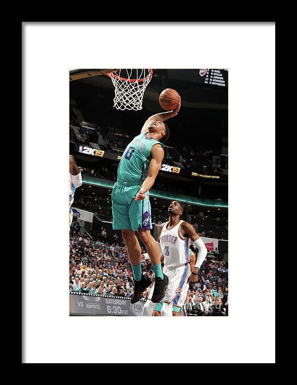 Nba Pro Basketball Framed Print featuring the photograph Oklahoma City Thunder V Charlotte by Kent Smith