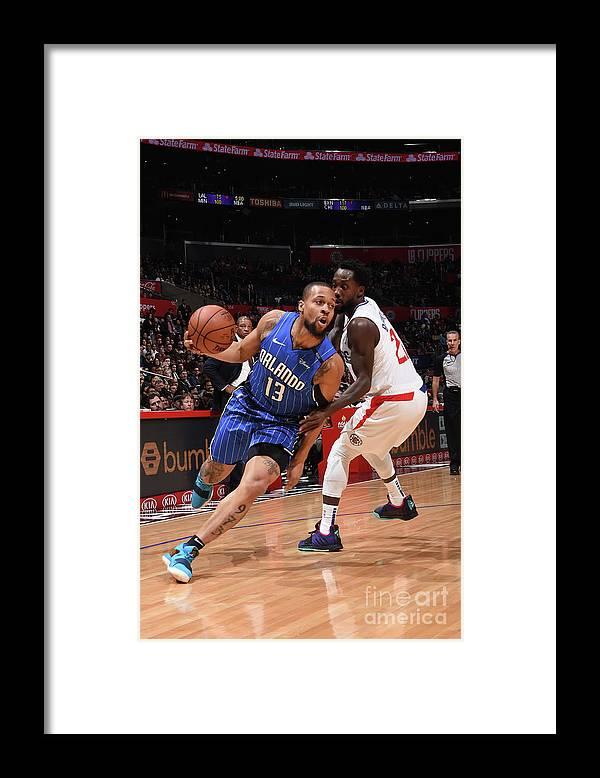 Nba Pro Basketball Framed Print featuring the photograph Orlando Magic V La Clippers by Adam Pantozzi