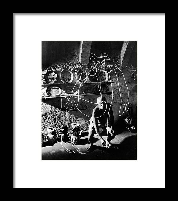 Pablo Picasso Framed Print featuring the photograph Pablo Picassopablo Picasso Misc by Gjon Mili